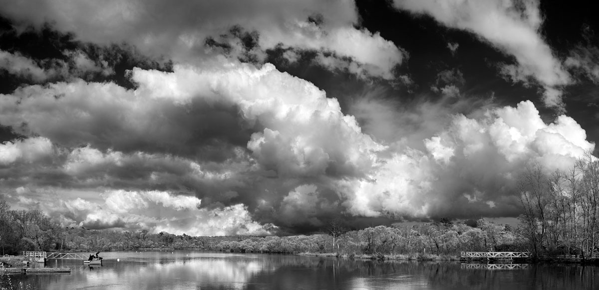life_in_maine_summer_sky_bw